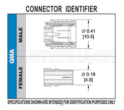 QMA Male Connector Crimp/Solder Attachment For RG55, RG142, RG223, RG400 View 2