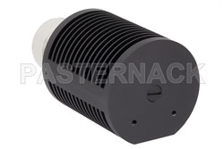 25 Watt RF Load Up To 8 GHz With 7/16 DIN Male Input Round Body Black Anodized Aluminum Heatsink View 2