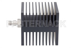 Medium Power 50 Watts RF Load Up To 18 GHz With TNC Female Input Square Body Black Anodized Aluminum Heatsink View 2