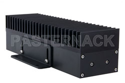 High Power 100 Watt RF Load Up to 2.7 GHz with 4.3-10 Male Black Anodized Aluminum View 2