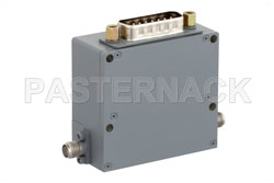 Voltage Variable PIN Diode Attenuator, 0 to 40 dB, 400 MHz to 6 GHz, SMA, 15-Pin D-Subminiature Control View 2