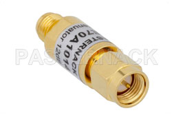 12 dB Fixed Attenuator, SMA Male to SMA Female Brass Body Rated to 2 Watts From 0.009 MHz to 6 GHz View 2