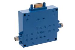Voltage Variable PIN Diode Attenuator, 0 to 60 dB, 8 GHz to 18 GHz, SMA, 15-Pin D-Subminiature Control View 2