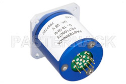 SP6T Electromechanical Relay Normally Open Switch, DC to 18 GHz, up to 240W, 28V, SMA View 2