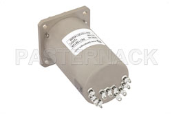 SP4T Electromechanical Relay Normally Open Switch, DC to 22 GHz, 20W, 12V Indicators, TTL, Diodes, SMA View 2