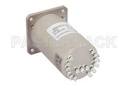 SP6T Electromechanical Relay Normally Open Switch, DC to 22 GHz, 20W, 12V, Indicators, TTL, Diodes, SMA View 2