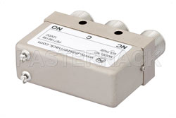 SPDT Electromechanical Relay Failsafe Switch, DC to 12.4 GHz, 160W, 12V, N View 2