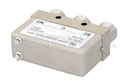 SPDT Electromechanical Relay Failsafe Switch, DC to 12.4 GHz, 160W, 28V, N View 2