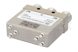 SPDT Electromechanical Relay Failsafe Switch, DC to 12.4 GHz, 160W, 12V Indicators, TTL, Diodes, N View 2