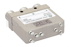 SPDT Electromechanical Relay Latching Switch, DC to 12.4 GHz, 160W, 28V Indicators, TTL, Diodes, Self Cut Off, N View 2