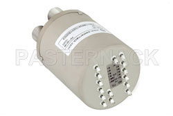 SP6T Electromechanical Relay Normally Open Switch, DC to 10 GHz, 160W, 12V Indicators, TTL, Diodes, N View 2