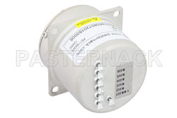 SP6T Electromechanical Relay Normally Open Switch, Terminated, DC to 22 GHz, 20W, 12V, SMA View 2