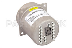SP6T Electromechanical Relay Normally Open Switch, Terminated, DC to 22 GHz, 20W, 28V, Indicators, TTL, Diodes, SMA View 2