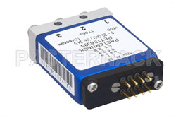 SPDT 0.03 dB Low Insertion Loss Repeatability Electromechanical Relay Latching Switch, DC to 20 GHz, 1W, 24V Indicators, Self Cut Off, SMA View 2