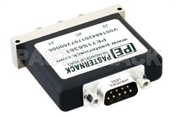 SPDT Electromechanical Relay Latching Switch, Terminated, DC to 26.5 GHz, up to 90W, 28V, SMA View 2
