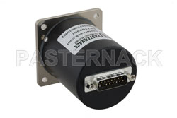SP6T Electromechanical Relay Normally Open Switch, Terminated, DC to 18 GHz, up to 90W, 28V, SMA View 2