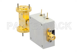 WR-10 PIN Diode SPST Waveguide Switch Operating From 75 GHz to 110 GHz W Band With UG-387/U Flange View 2