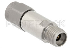10 dB Fixed Attenuator, 2.92mm Male to 2.92mm Female Passivated Stainless Steel Body Rated to 2 Watts Up to 40 GHz View 2