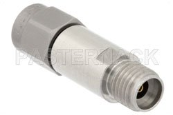 4 dB Fixed Attenuator, 2.92mm Male to 2.92mm Female Passivated Stainless Steel Body Rated to 2 Watts Up to 40 GHz View 2