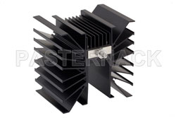 50 dB Fixed Attenuator SMA Male To SMA Male Directional Black Aluminum Heatsink Body Rated To 300 Watts Up To 3 GHz View 2