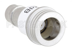 2 dB Fixed Attenuator, QN Male to QN Female Brass Tri-Metal Body Rated to 1 Watt Up to 3 GHz View 2