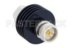 6 dB Fixed Attenuator, 4.3-10 Male to 4.3-10 Female Aluminum Body Rated to 15 Watts Up to 6 GHz View 2