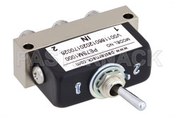 SPDT SMA Manual Toggle Switch, DC to 22 GHz, Rated to 50 Watts View 2