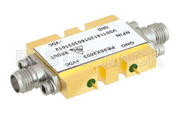 2x Frequency Multiplier Module, 8 GHz to 21 GHz Output Frequency, +10 dBm Output Power, Field Replaceable SMA View 2
