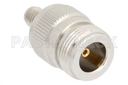 SMA Female to N Female Adapter, With Knurl View 2