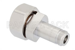 Low PIM N Female to 7/16 DIN Male Adapter, Low VSWR View 2
