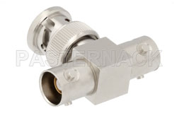 BNC Triax Tee Adapter Male-Female-Female View 2