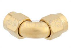 Precision SMA Male to SMA Male Radius Right Angle Adapter, Gold Plated View 2