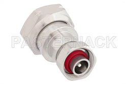 7/16 DIN Male to 4.1/9.5 Mini DIN Male Adapter, IP67 Mated View 2