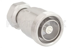 7/16 DIN Female to 4.1/9.5 Mini DIN Male Adapter, IP67 Mated View 2