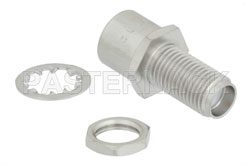 Bulkhead Mount Push-On SMA Male to SMA Female Adapter View 2
