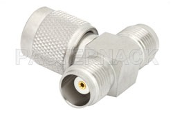 TNC Tee Adapter Female-Male-Female View 2