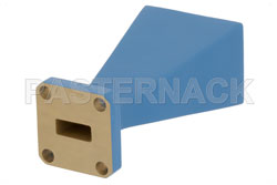WR-42 Waveguide Standard Gain Horn Antenna Operating From 18 GHz to 26.5 GHz With a Nominal 15 dBi Gain With UG-597/U Square Cover Flange View 2