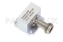 WR-62 Square Type Flange to N Female Waveguide to Coax Adapter Operating from 12.4 GHz to 18 GHz View 2