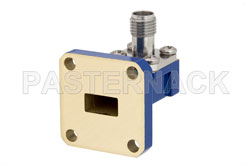 WR-34 UG-1530/U Square Cover Flange to 2.92mm Female Waveguide to Coax Adapter Operating from 22 GHz to 33 GHz View 2