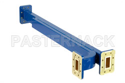 WR-112 Waveguide 30 dB Broadwall Coupler, CPR-112G Flange, E-Plane Coupled Port, 7.05 GHz to 10 GHz, Copper Alloy View 2