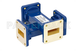WR-112 Waveguide 30 dB Crossguide Coupler, UG-51/U Square Cover Flange, 7.05 GHz to 10 GHz, Bronze View 2