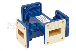 WR-112 Waveguide 40 dB Crossguide Coupler, UG-51/U Square Cover Flange, 7.05 GHz to 10 GHz, Bronze View 2