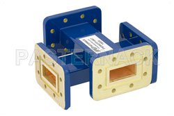 WR-112 Waveguide 20 dB Crossguide Coupler, CPR-112G Flange, 7.05 GHz to 10 GHz, Bronze View 2