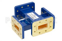 WR-112 Waveguide 50 dB Crossguide Coupler, CPR-112G Flange, 7.05 GHz to 10 GHz, Bronze View 2