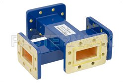 WR-137 Waveguide 20 dB Crossguide Coupler, CPR-137G Flange, 5.85 GHz to 8.2 GHz, Bronze View 2