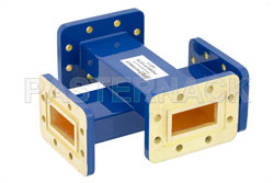 WR-137 Waveguide 50 dB Crossguide Coupler, CPR-137G Flange, 5.85 GHz to 8.2 GHz, Bronze View 2