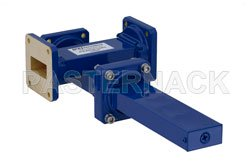 WR-112 Waveguide 40 dB Crossguide Coupler, 3 Port UG-51/U Square Cover Flange, 7.05 GHz to 10 GHz, Bronze View 2
