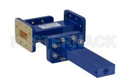 WR-112 Waveguide 50 dB Crossguide Coupler, 3 Port CPR-112G Flange, 7.05 GHz to 10 GHz, Bronze View 2