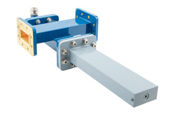 WR-137 Waveguide 20 dB Crossguide Coupler, CPR-137G Flange, N Female Coupled Port, 5.85 GHz to 8.2 GHz, Bronze View 2