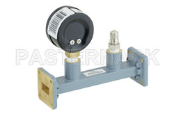 WR-62 Waveguide Pressurizing Section 4.25 Inch Length, UG-419/U Square Cover Flange from 12.4 GHz to 18 GHz View 2